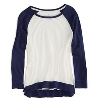 AEO FACTORY COLORBLOCK RAGLAN SHIRT