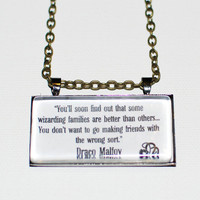 Limb and Fingers Jewelry Shop Draco Malfoy Quote  by DiagonAlley
