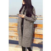 2016 New Women Long Cardigans Autumn Thicken Jacket Coat Casual Knitted Sweaters Cardigan Warm Outwear jacket coat