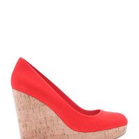 Faux Suede Cork Wedges | Forever 21 - 2000187085