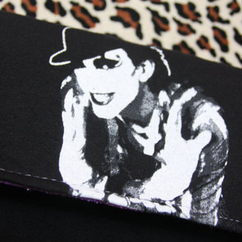 THE ADICTS - Upcycled Rock Band T-shirt Clutch Bag - OOAK