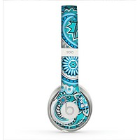 The Vibrant Blue and White Paisley Design  Skin for the Beats by Dre Solo 2 Headphones