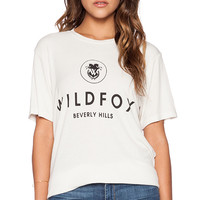 Wildfox Couture Wildfox Beverly Hills Tee in Cream