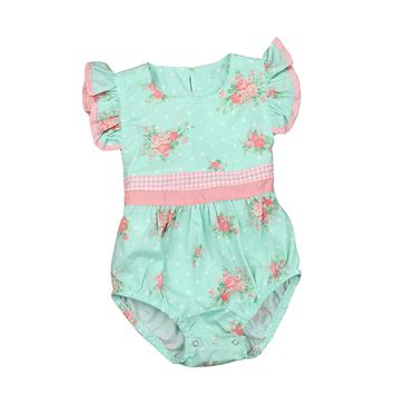 Baby Girl Rompers Summer Girls Clothing Flower Rompers Newborn Baby Clothes Cute Baby Jumpsuits Infant Girls Clothing