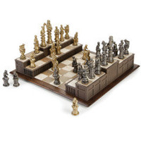 The Barrister's Chess Set - Hammacher Schlemmer