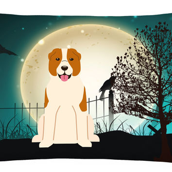 Halloween Scary Central Asian Shepherd Dog Canvas Fabric Decorative Pillow BB2239PW1216