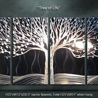 "Original Metal Wall Art Modern Painting Sculpture Indoor Outdoor Decor ""Tree of Life"" by Ning"