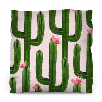 Happy Cacti Throw Pillow
