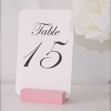 Pink Table Number Holder