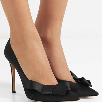 Gianvito Rossi - Kyoto bow-embellished satin pumps
