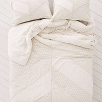 Pieced Lace Comforter - Urban Outfitters