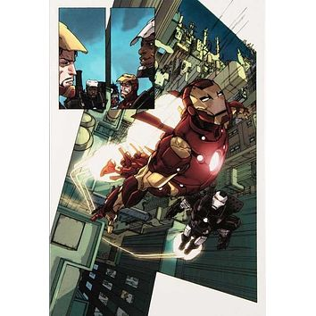 Iron Man 2.0 #1 - Limited Edition Giclee on Stretched Canvas by Barry Kitson and Marvel Comics