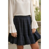 Ladies Who Brunch Navy Skirt