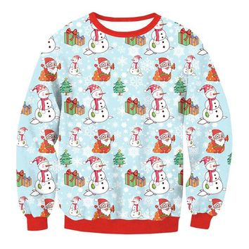 New Fashion Women Santa Christmas Sweater Novelty Ugly Retro Jumper Warm Sweater