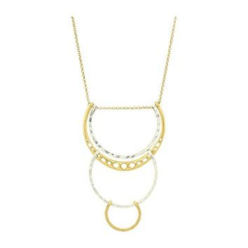 Lucky Brand Tri Loop Pendant Necklace
