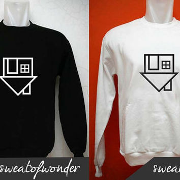The Neighbourhood sweater Black White and gray Sweatshirt Crewneck Men or Women Unisex Size