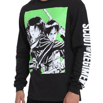 Attack On Titan Eren Levi Long-Sleeved T-Shirt