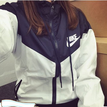 """NIKE""( 3 colors )Fashion Hooded Zipper Cardigan Sweatshirt Jacket Coat Windbreaker Sportswear"