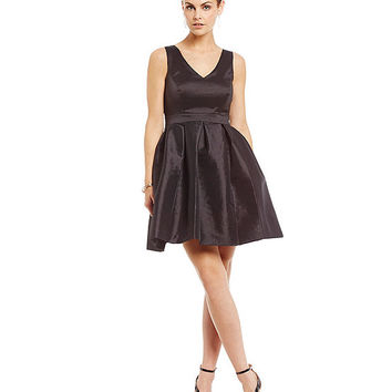 Jessica Simpson Taffeta Bow Back Dress | Dillards