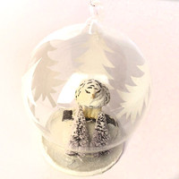 White Owl Globe Ornament