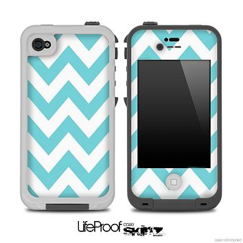 Light Blue Chevron Pattern Skin for the iPhone 5 or 4/4s LifeProof Case