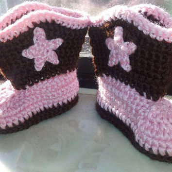 Cowboy or Cowgirl Crochet Boots