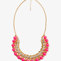 Sparkling Beaded Chain Necklace