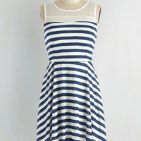 ModCloth Nautical Short Length Sleeveless A-line Matey's Night Dress