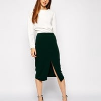 ASOS Mid Length Split Front Pencil Skirt