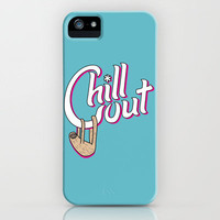 Chill Out Sloth iPhone Case by Ben Dalrymple | Society6