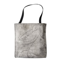 Animals and girl tote bag