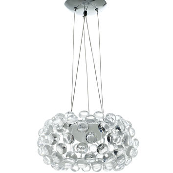"Halo Modern 14"" Crystal Chandelier"