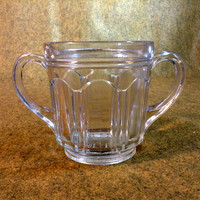 Vinted Two Handled Spooner - Double Handled - Clear Glass - Nice Condition - Vintage Pressed Glass