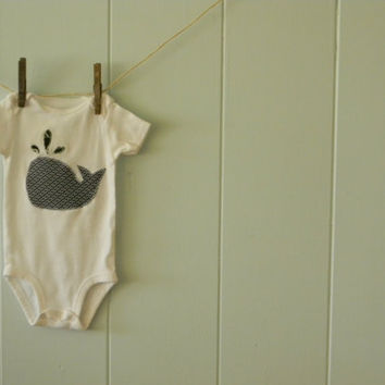 Whale Applique Onesuit or Tshirt by sunkissedcottage on Etsy