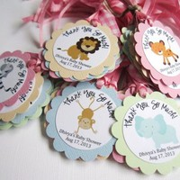 Safari Animals Favor Tags for Baby Shower or Birthday Party