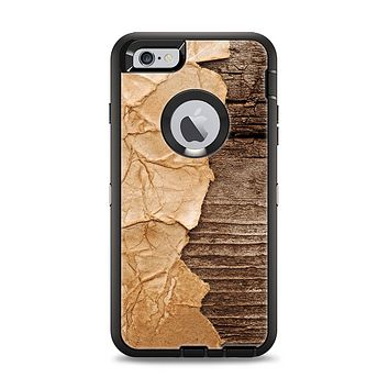 The Vintage Paper-Wrapped Wood Planks Apple iPhone 6 Plus Otterbox Defender Case Skin Set