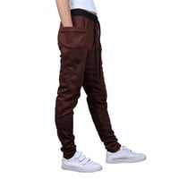 2016 New Sweatpants Mens Elastic Waist Midweight Pencil Pant Hombre Workout Male Pants Man Skinny Big Pocket Pantalones B007