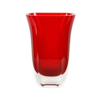 Pre-owned 1970s Orrefors Style Red Vase