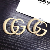 GUCCI New fashion letter earring women Golden