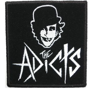 "THE ADICTS Droogs Logo Sew On Embroidered Patch 4""/10.2cm"