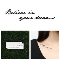 Mantra - Temporary Tattoo (Set of 2)