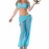 Seductive Belly Dancer Genie Halloween Women Costumes