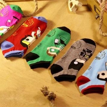 New Batman superman Clown Cute Cartoon Casual ankle cotton socks men boat sock slippers harajuku EUR39-44