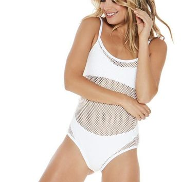 L*SPACE | Mesh Madness One Piece - White