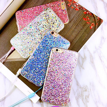 Female fashion quicksand mobile phone case for iphone 6 6s 6plus 6s plus + Nice gift   box!