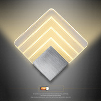 wall lamp  5W LED square Wall Sconce AC90-260V Aluminum Acrylic Modern indoor hotel bedroom Entrance home Decoration Wall Light