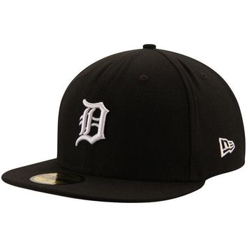 MLB Detroit Tigers Black League Basic 59FIFTY Fitted Hat