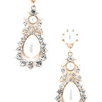 Teardrop Dangle Earrings - Pearl