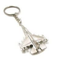 Fighter Jet Keychain, Fighter Jet Key Ring, Military Keychain, Military Gift, Navy Pilot Keychain, Military Jet Charm, Fighter Pilot Gift