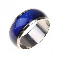 2016 Silver Tone Color Changing Mood Rings Temperature Emotion Feeling Rings For Women/men Hot Fine Jewelry 1pcs